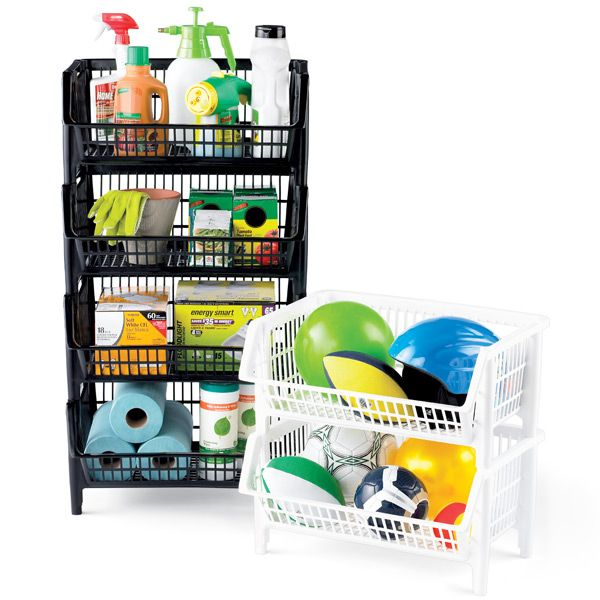 Enjoy free shipping on all purchases over $75 and free in-store pickup on the Our Large Stackable Basket at The Container Store. Molded to our specifications for superior strength and durability, our Large Stack Basket has the capacity required for storing bulky sweaters and sweatshirts in the closet, oversized toys and stuffed animals in the kid's room, or recyclables like paper, glass, and aluminum in the garage or utility area. They are also superior storage for towels in the bath, pr...