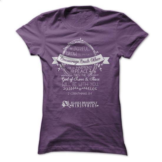 AK Dragonfly Ministries 2 Corinthians 13:11 - #printed shirts #vintage sweatshirts. MORE INFO => https://www.sunfrog.com/Faith/AK-Dragonfly-Ministries-2-Corinthians-1311-Ladies.html?60505