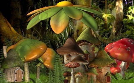 Fantasy Forest - hűvös, absztrakt, erdő, fantasy, szórakozás
