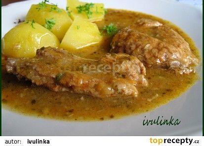 Vepřové kousky dušené v bylinkách a zelenině recept (mrkev,celer,bazalka,šalvěj)