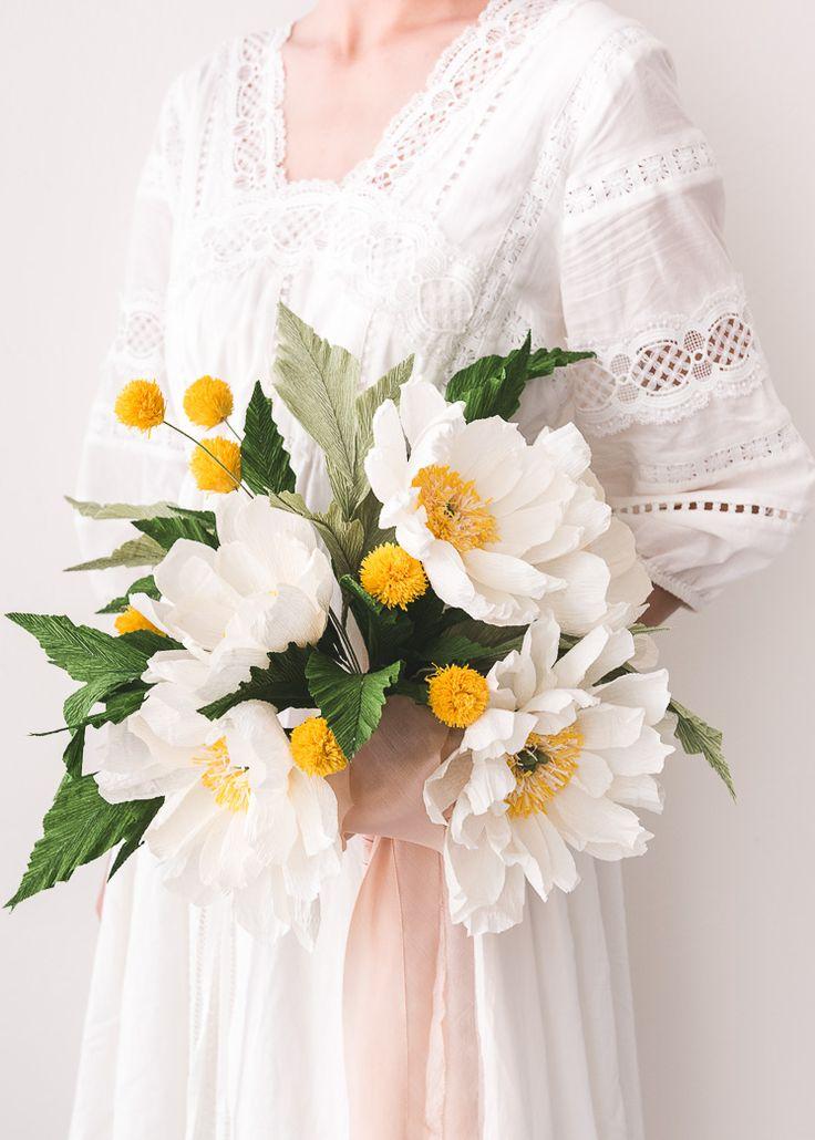 Paper Flower Wedding Bouquet