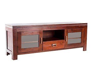Mueble tv en madera de caoba proyecto muebles y - Muebles para televisiones planas ...