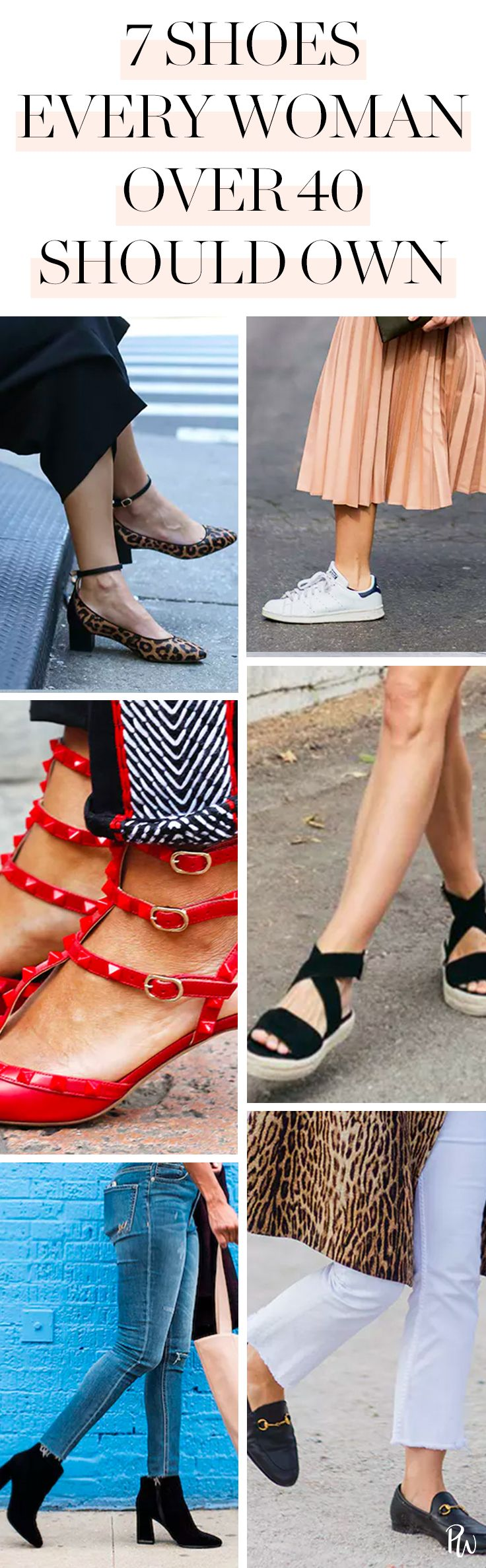 7 Pairs of Shoes Every Woman Over 40 Should Own  #shoes #fashion