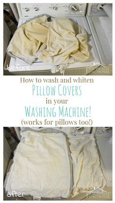 can you wash pillows in the washer machine