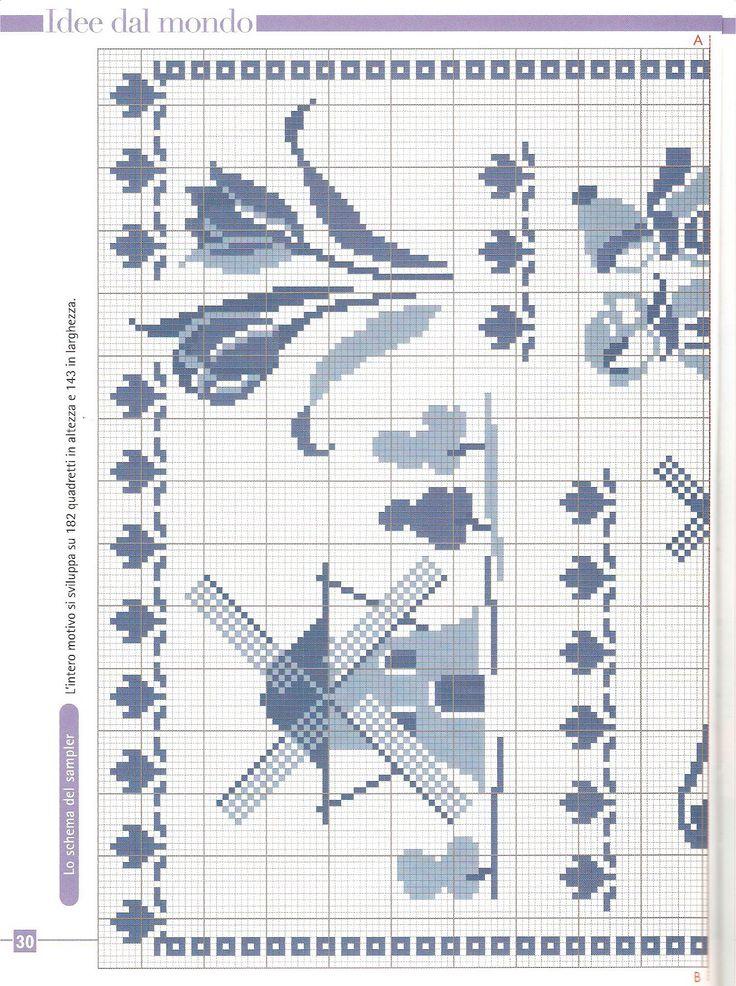 Delfsblauw merklap 1