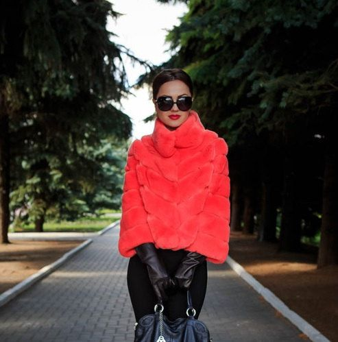 Coral Fur coat by GianL on Etsy