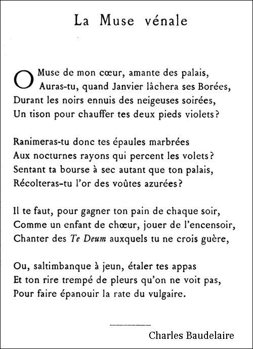 Baudelaire - La Muse vénale