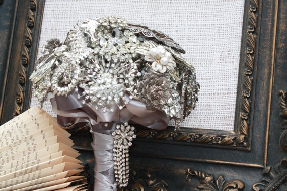 My wedding bouquet is never going to die! Sparkly**