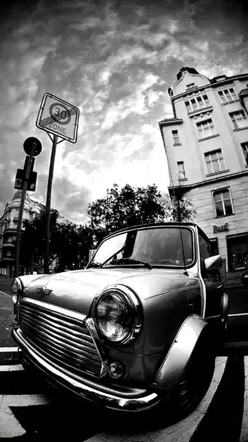 Vintage mini cooper black white wallpaper mobile9 - Car wallpaper black and white ...