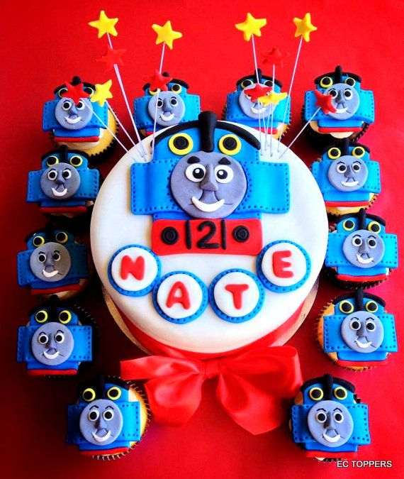 Thomas Train Fondant Cake Toppers by ECTOPPERS on Etsy, $29.99