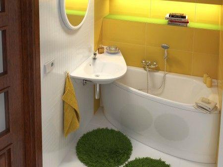 kleines Gästebad Set Das Gästebad Set oder mini Bad mit Mineralguss Waschbecken für Raumsparwanne AVO rechts oder links. http://www.bad-design-heizung.de/badmoebel/badserie-gaestebad-set/