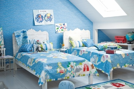 super fun colors and bright lighting make this the perfect room for your little explorersDesign Guild, Boys Bedrooms, Children Bedrooms, Kids Room, Children Room, Kid Rooms, Designers Guild, Boys Room, Kids Bedrooms Ideas