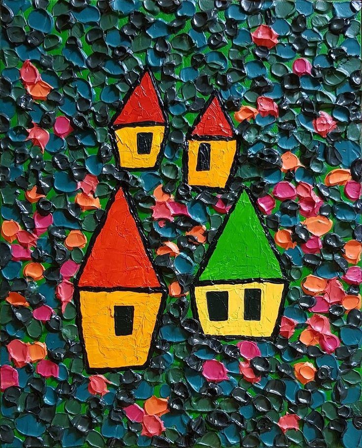 """좋아요 10개, 댓글 2개 - Instagram의 Youyeong.Seo(@blibla_art)님: """". 우리, 꽃길만 걷자. 27.3×22.0cm acrylic on canvas . . . #acrylic #acrylicpainting #acrylicpaint #painting…"""""""