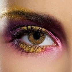 Brown Hazel Glimmer Coloured Contact Lenses (90 Day)
