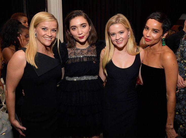 Reese Witherspoon, Rowan Blanchard, Ava Elizabeth Phillippe, Zoe Kravitz, 2018 Golden Globes, Party Pics