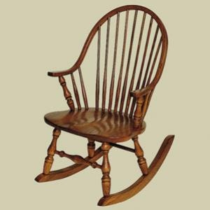 Redux Antique Rocking Chair   Heritage New England Windsor Rocking Chair.  Available In Premium Oak