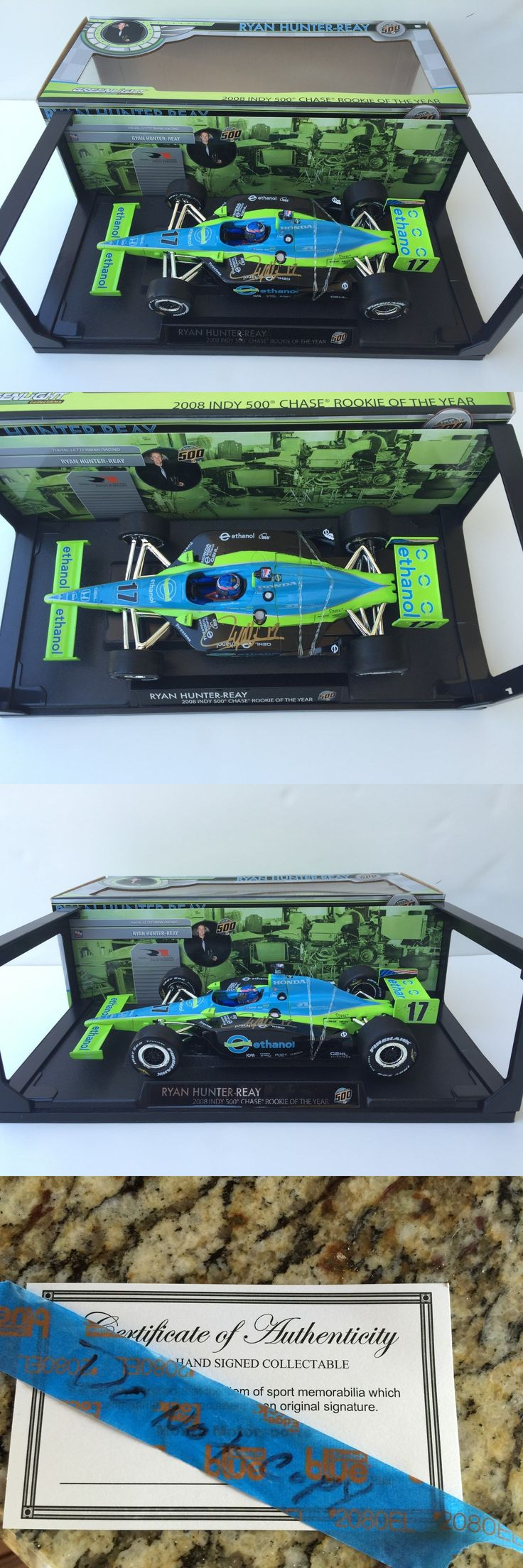 Racing-Indy 1228: Ryan Hunter-Reay, Hand Signed, 1 18 Scale Diecast By Greenlight Rookie Of Year -> BUY IT NOW ONLY: $79 on eBay!
