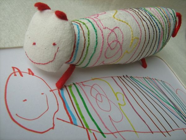 LOVE !!!!! - this company will craft a real toy from a child's drawing.