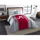 Alabama Crimson Tide Comforter NCAA Twin Full Red Gray Bedspread NEW