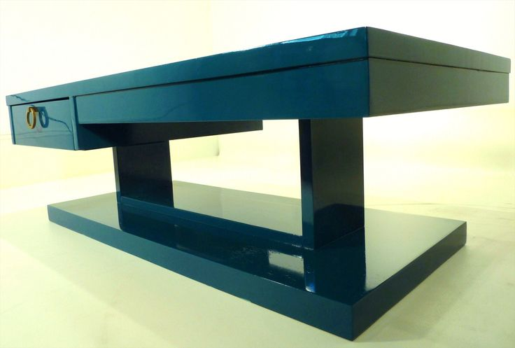 teal coffee table | Teal Lacquer MidCentury Coffee Table by FabulousPieces on Etsy