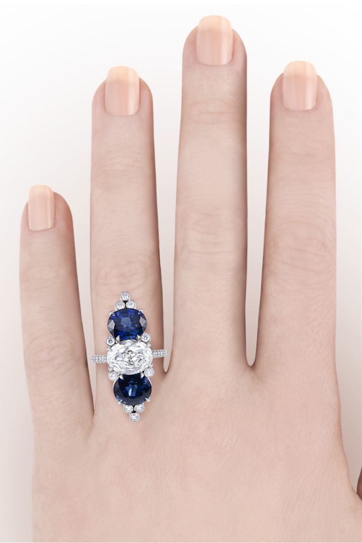86 best Sparkling Sapphires images on Pinterest | Rings, Sapphire ...