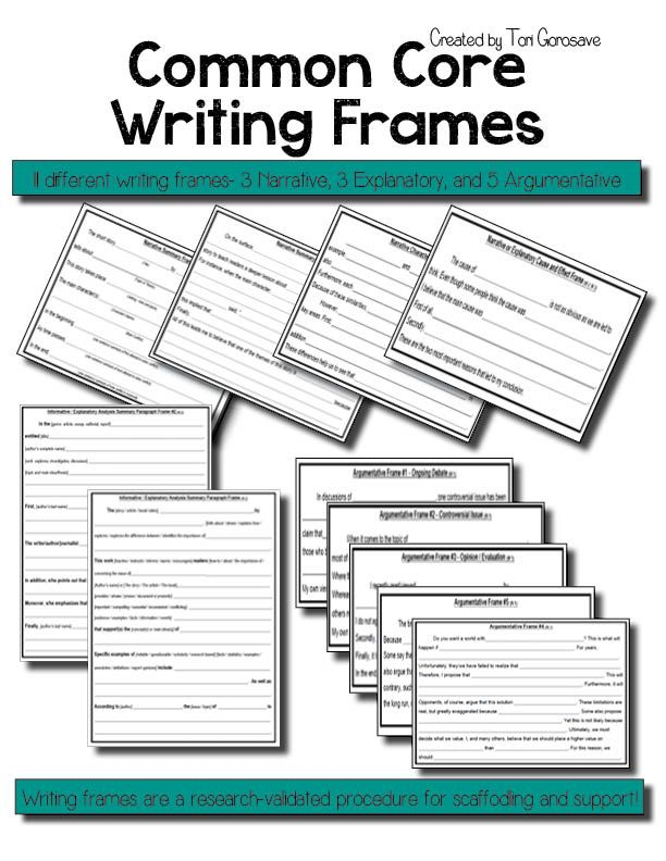 One of the best research-validated procedures for scaffolding and supporting writers is the use of paragraph frames. When a paragraph frame is used, a portion of the paragraph is provided and students complete the remainder. Students learn about the structure of a paragraph, gain both sentence and paragraph sense, learn how to generate ideas for a paragraph, practice writing related sentences using a paragraph structure and practice rereading and proofreading their composition.