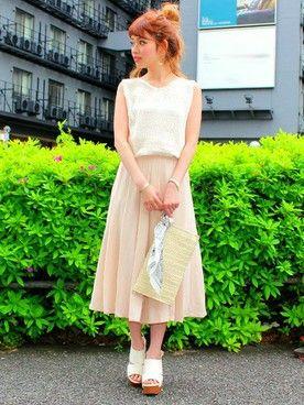 ふんわり柔らか素材のジョーゼットプリーツ風スカートにうっとり!おすすめ・人気・トレンドのジョーゼットスカーチョ一覧♡