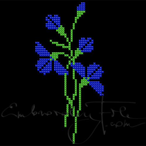 Cornflowers in cross stitch II F