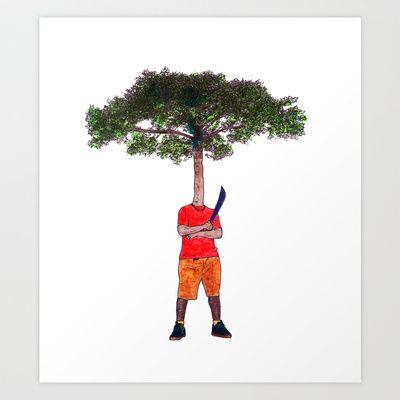 Warrior tree Art Print by Plasmodi - $21.00