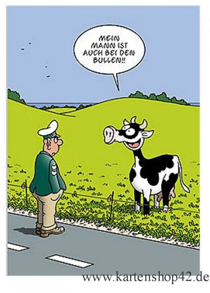 Inkognito Bei den Bullen-Tetsche Humor-Postkarte | Kartenshop42