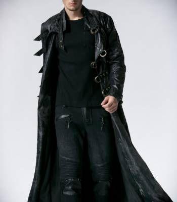 Мужское пальто в готическом стиле   Готическая одежда, магазин неформальной одежды, стимпанк одежда, одежда для готов, готический магазин, рок магазин