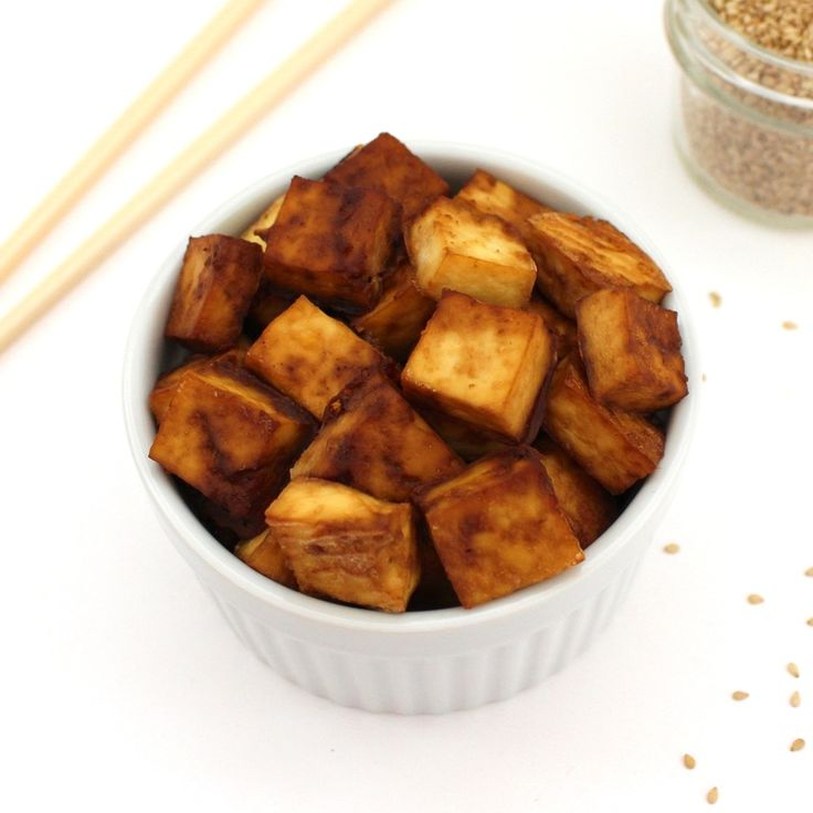 Perfectly Crispy Baked Tofu - delicious & addictive! #highprotein #vegan…