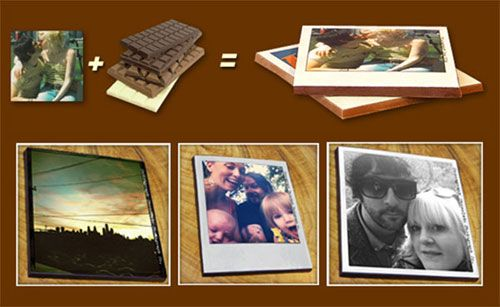 Cocoagraph turns your favorite photographs (including iPhone pics) into chocolate polaroids!