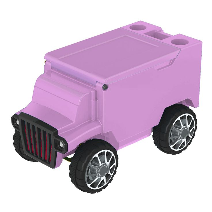 Hot Pink/Hot Pink RC Truck Cooler w/ Bluetooth Speakers