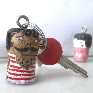 Kurk sleutelhanger