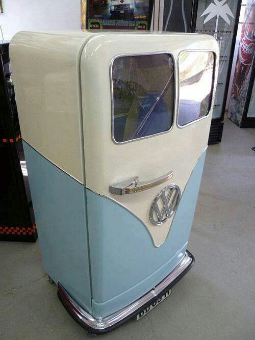 This has to be the most amazing fridge in the world! VW camper can. Kitchen ideas. Interior home decor