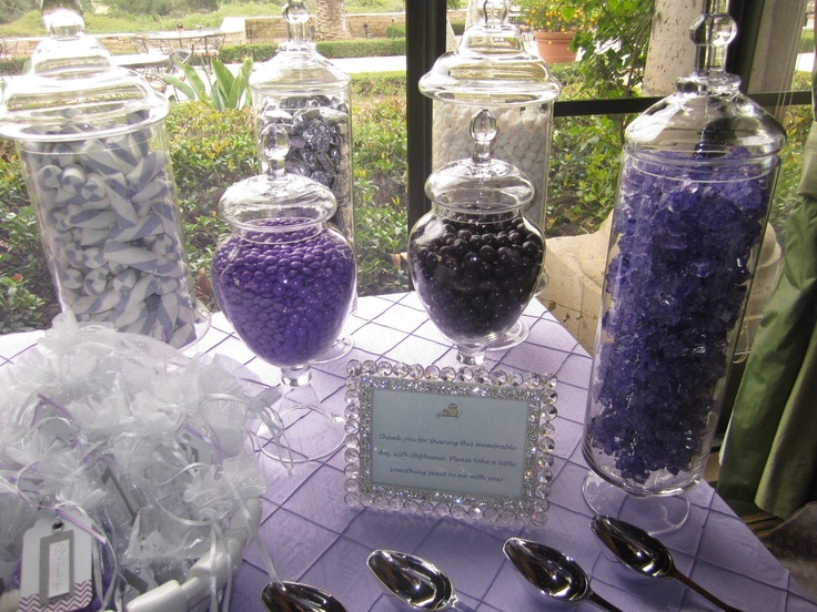 Superb Lavender Candy Bar For Baby Shower