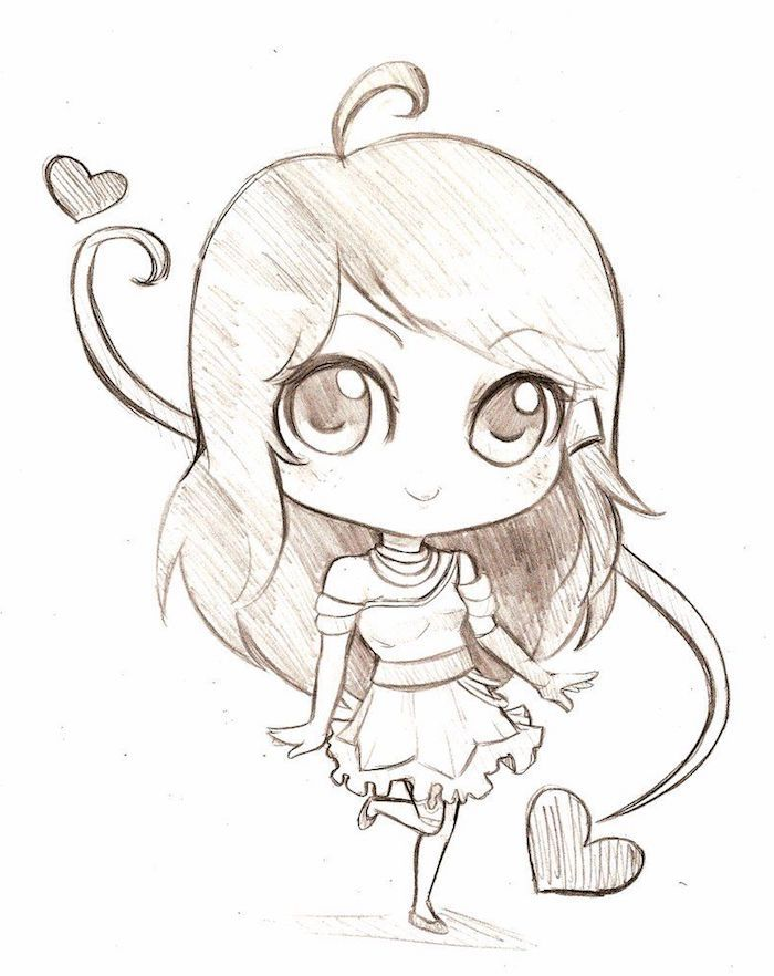 1001 + idées faciles pour faire un dessin kawaii mignon pour débutant   Drawings, Sketches, Kawaii
