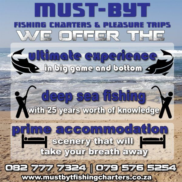 @Mustbytfishing offers #deepseafishing, pleasure trips AND #accommodation of the highest standards! #KZNsouthcoast #Fishingislife http://bit.ly/28Khmu7