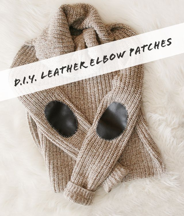 D.I.Y. Leather Elbow Patches