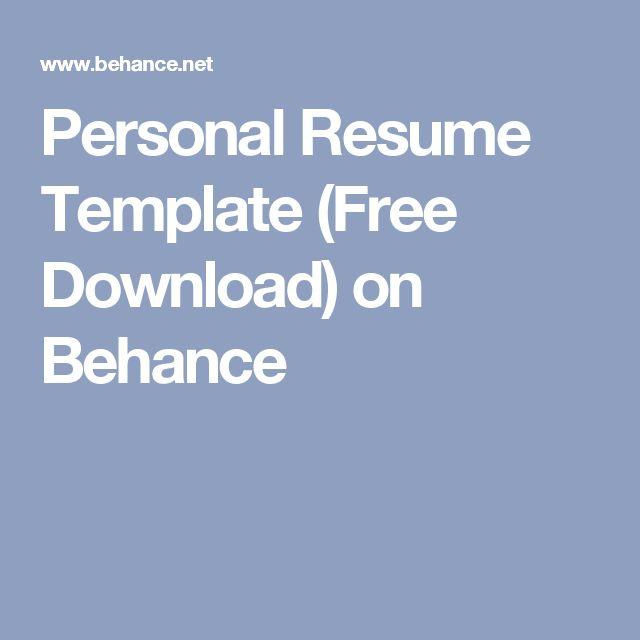 Přes 25 nejlepších nápadů na téma Resume Templates Free Download - free resume templates 2014