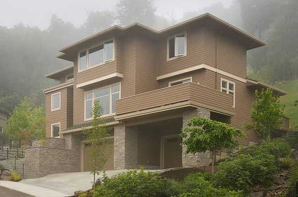 79 best hillside house design images on pinterest home for Building a garage on a sloped lot
