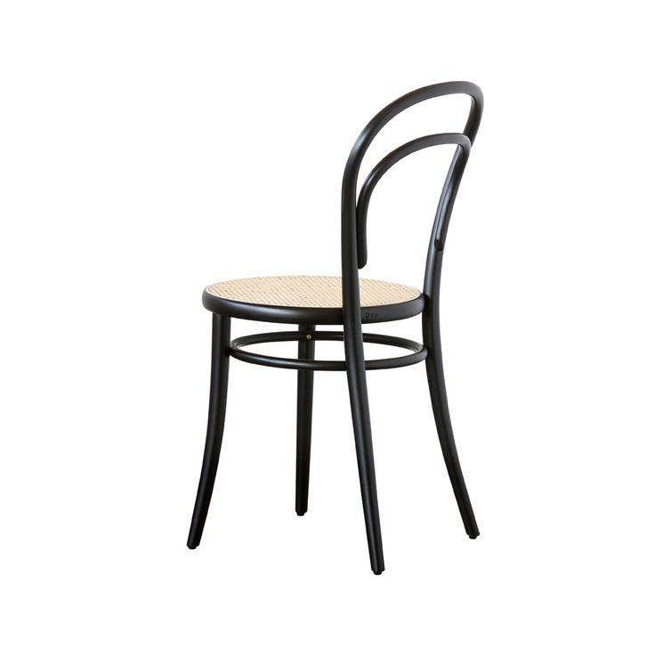 Ton Chair no.14/01 stol - Ton Chair no.14/01 stol - svart, rotting sits