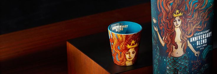 "I don't know about the taste of the ""bold, full-bodied favorite,"" but I do like the artwork for Starbucks® Anniversary Blend, especially on the mug."