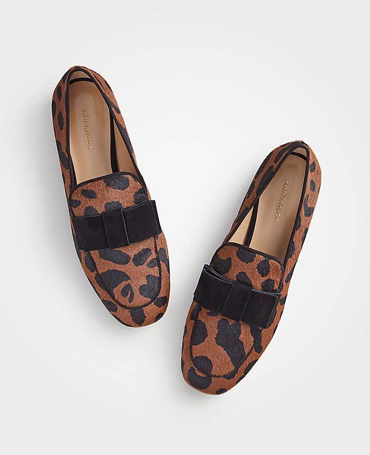 cf088475ebd Adeline Hair Calf Bow Loafers