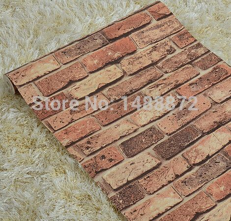 3d personality imitation brick patterned wallpaper for living room tv backdrop restaurants aisle