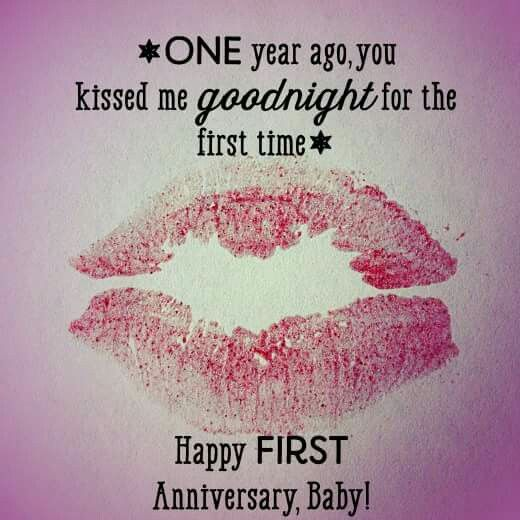 Happy Anniversary to the love of my life! Hard to believe it was one year ago that we had our first date & kiss goodnight...it's been a a beautiful journey ❤ Here's to many, many more!