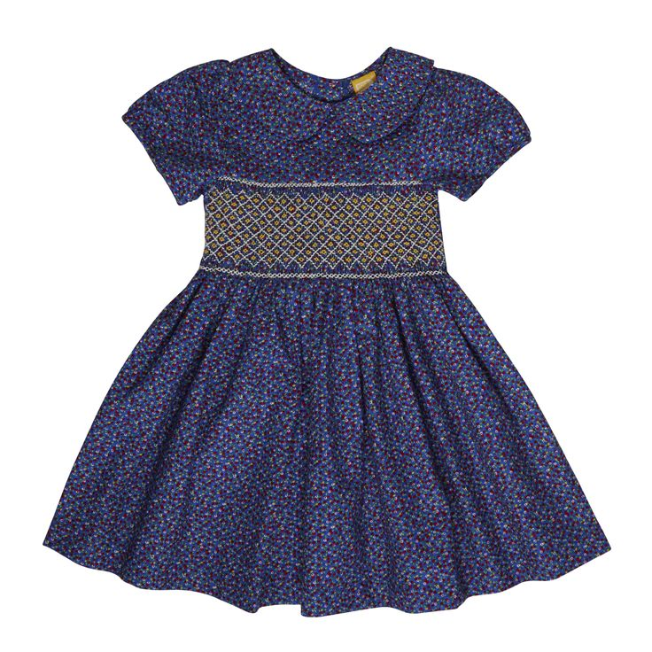 Rock Your Baby - Lucy Smocked Baby Dress With Bloomers