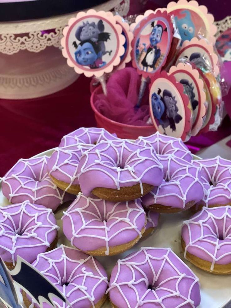 Check Out The Cool Spiderweb Donuts At This Vampirina