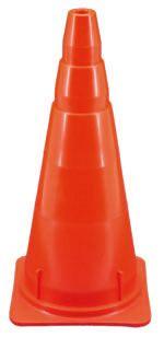 Cono de 50 cm semi-flexible color rojo / amarillo / naranja vial  Medidas: 505 x 235 x 235 mm. ( alto x ancho x perfil ) Peso: 360 gramos Origen: ARGENTINA Marca: BM Garantía: 6 meses  Observaciones:  Material: Plástico rigido.  Adicionales: Posee aletas para evitar que se claven  al apilarlos.  Alojamiento para autoadhesivo: 2 espacios a 90° de 25 mm para pegar lámina reflectiva.